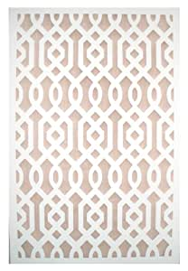 Amazon Com Acurio Azzaria White Vinyl Lattice Decorative