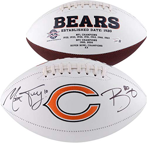 Mitchell Trubisky & Trey Burton Chicago Bears Autographed White Panel Football - Fanatics Authentic Certified