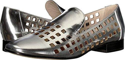 Diane von Furstenberg Women's Linz Perforated Loafer Silver 6 B US