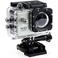 1080P Action Camera Full HD Sports Cam Waterproof up to 90 FT with 140 Degree Wide Angle Lens and 2.0 Inch LCD Display with Full Assortment of Accessories Included by Design By Morelli Legend Silver