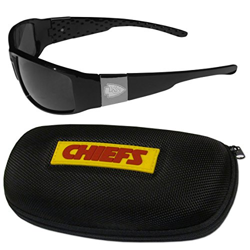NFL Kansas City Chiefs Chrome Wrap Sunglasses & Zippered Carrying Case ()