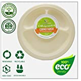 Plates - by EcoMojiWare.com - Certified Compostable Biodegradable - 9
