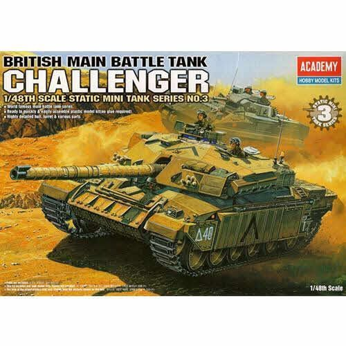 Main British Tank Battle ([Academy] Plastic Model Kit 1/48 British Main Battle Tank Challenger (#13007) /item# G4W8B-48Q6801)