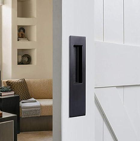 Sencillo mango oculto para puerta corredera, estilo moderno, tirador para puerta corredera de madera.: Amazon.es: Bricolaje y herramientas