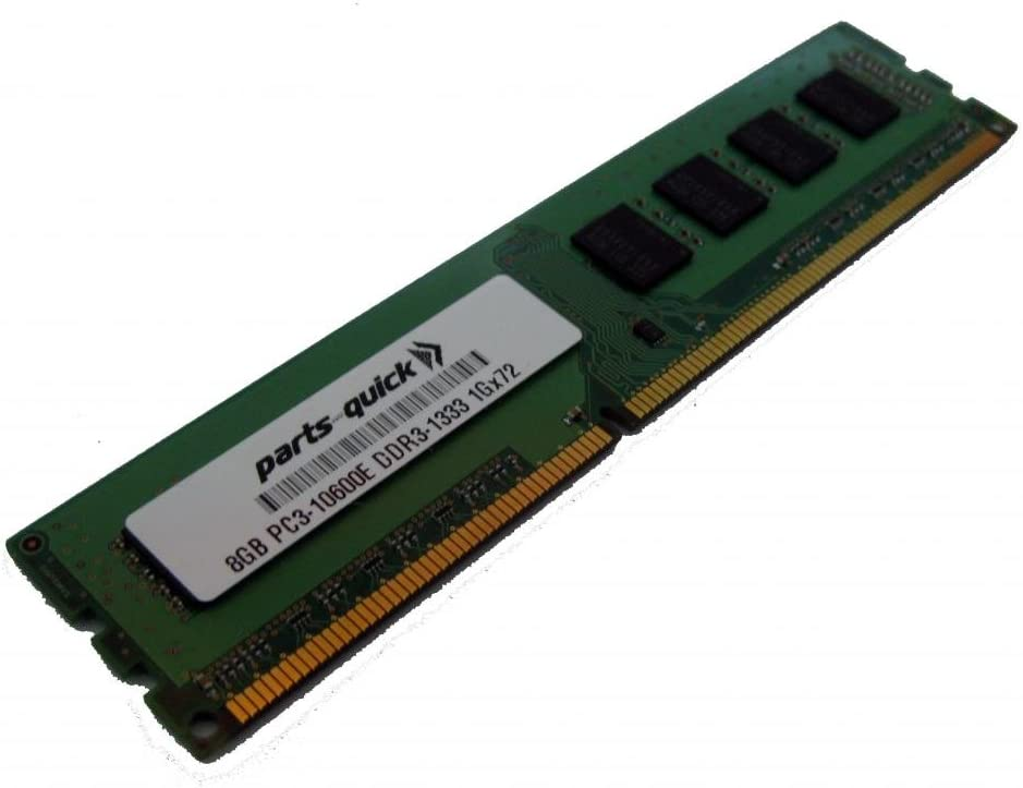 PARTS-QUICK Brand 8GB Memory Upgrade for Supermicro X9SRW-F Motherboard DDR3 1333MHz PC3-10600 ECC 2Rx8 UDIMM