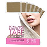 BIG KIZZY Hair Extensions Tape REGULAR Hold Fits Most Tape in Hair Extensions, 4cm x .8cm Tape for Extensions, Professional Double Sided Extension Tape