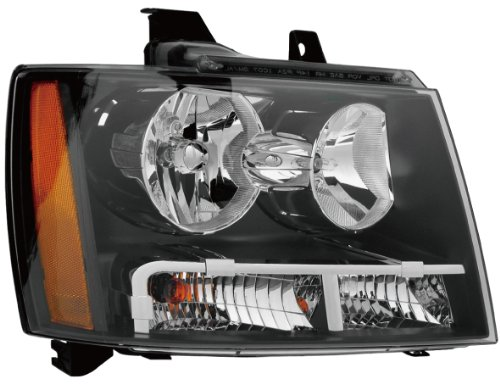 Epic Lighting OE Fitment Replacement Headlight Assembly for 2007-2012 Chevrolet Avalanche Suburban Tahoe Tahoe Hybrid [GM2503263 20760579] Right Passenger Side RH