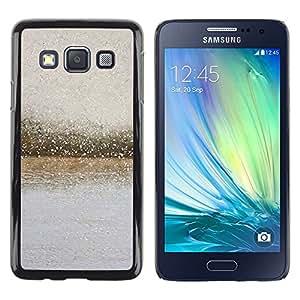 iKiki Tech / Estuche rígido - River Glass Raindrops Blurry Grey Summer - Samsung Galaxy A3 SM-A300