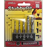 Milescraft 2320 Metal Stubby Drill Bit Set