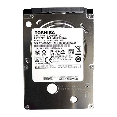 MQ04ABF100 Toshiba 1TB/1000GB 5400rpm Sata 7mm 2.5