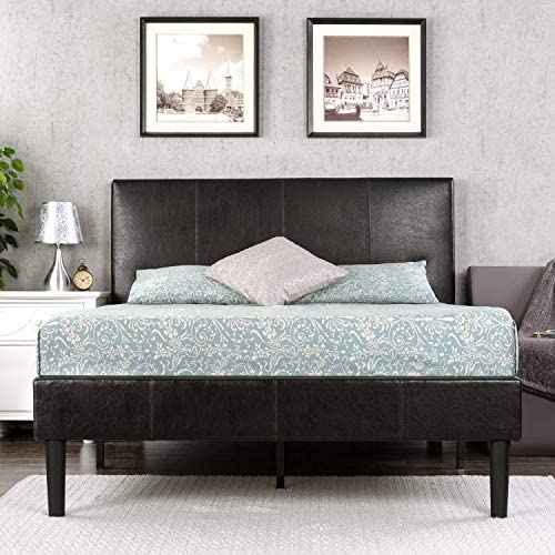 picture of Zinus Gerard Deluxe Faux Leather Upholstered Platform Bed / Mattress Foundation