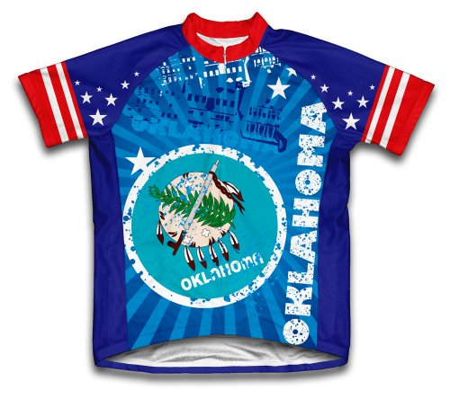 (ScudoPro Oklahoma Short Sleeve Cycling Jersey for Men - Size 2XL)