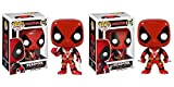 Deadpool with Two Swords and Thumbs Up Pop! Vinyl Figures Set of 2
