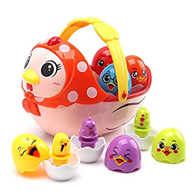 Amy & Benton Kids Musical Toy Hen and Chicken Eggs for 1-5 Year Old Baby Toy Set for Toddler by Amy & Benton that we recomend personally.