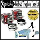 Opteka 0.45x Wide Angle & 2.2x Telephoto HD2 Pro Lens Set for Fuji FinePix S5200 S5100 S5000 S3100