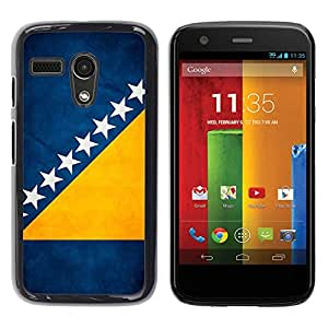 YiPhone /// Prima de resorte delgada de la cubierta del caso de Shell Armor - Bosnia And Herzegovina Grunge Flag - Motorola Moto G 1 1ST Gen I X1032