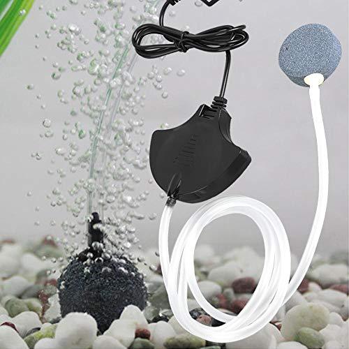 Duokon Bombas de Aire para Acuario silenciosas Bomba de Aire con Ahorro de energía Bombas de aireador de oxígeno con Piedra...