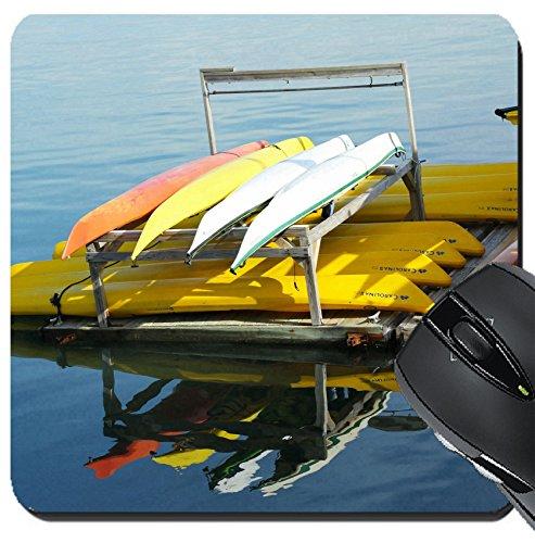 MSD Suqare Mousepad 8x8 Inch Mouse Pads/Mat design 20802183 BAR HARBOR MAINE JULY 6 Sea kayaks ready for tourists in Bar Harbor on July 6 2013 Bar Harbor is a famous summer colony i -