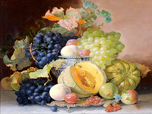 Still life of fruit on a tray by Eloise Harriet Stannard currant grape pear plum Accent Tile Mural Kitchen Bathroom Wall Backsplash Behind Stove Range Sink Splashback One Tile 8