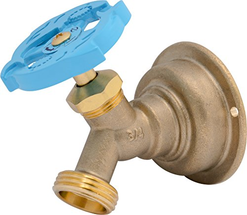 SharkBite 24633LF 24633LFA Hose Bibb 45 Degree, x 3/4 inch Water Valve Shut Off, Multi Turn, MHT, No Kink, Push-to-Connect, PEX, Copper, CPVC, PE-RT 3/4'' by SharkBite