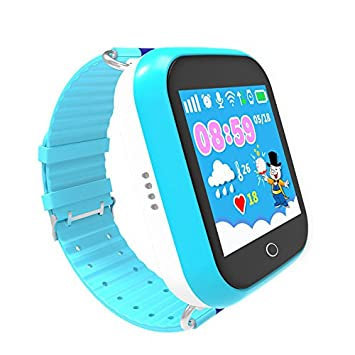 Reloj Inteligente GPS para Niños, antipérdida, para Niños, Niñas, Niños, con Tarjeta SIM, Llamada Sos, Reloj Inteligente para iPhone y Android
