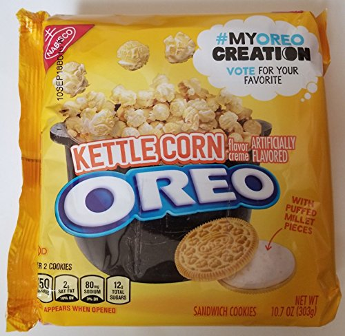 Flavored Corn - Nabisco Oreo Kettle Corn Flavor Creme Sandwich Cookies (10.7 oz.) ( 2 pack ) ( limited edition )
