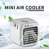 Gotian USB Charging Air Conditioner Fan Mini Cooler Portable Small Air Conditioner - Enjoy Cool, Clean Air - Great for dens, Reading nooks, Work, Dorm Rooms, Offices, Home Offices, Campers