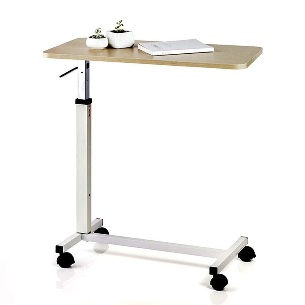 NESSTIC Overbed Table with Wheels, Adjustable Hospital Medical Bed Table, Over Bedside Home Desk, Movable Sofa Side Table, Computer Desk for Reading, Eating, Bedridden, Elderly, Senior Patient Aid by NESSTIC