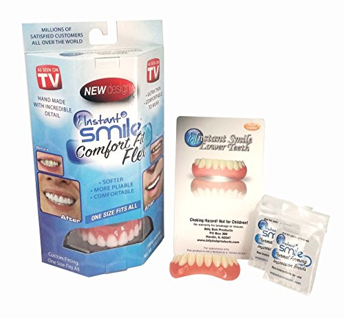 Caps On Teeth - Instant Smile Complete Adult Makeover Kit! Fix Your Smile At Home Within Minutes!