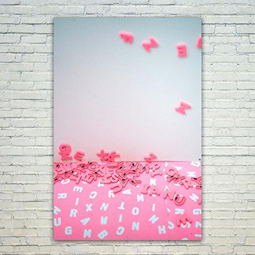 Westlake Art Poster Print Wall Art - Pink Red - Modern Pictu