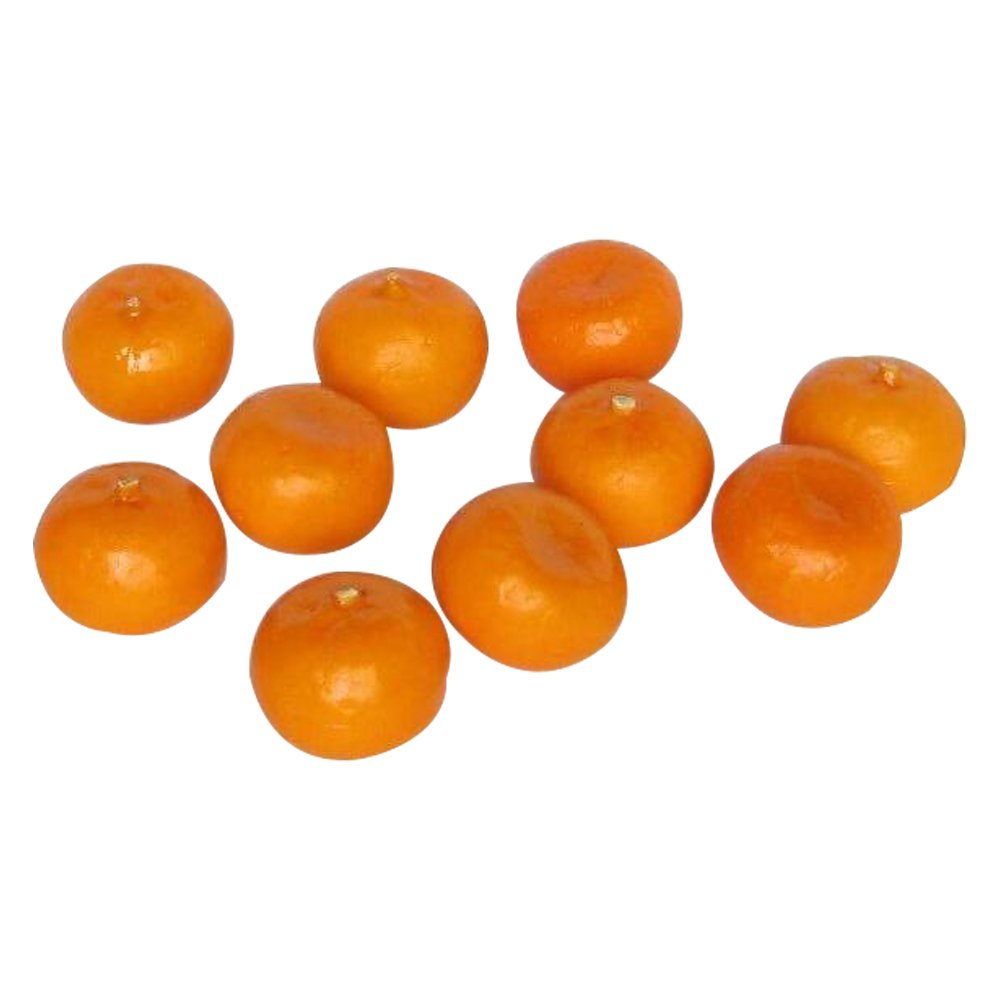 Plastic Decorative Fruit Oranges Fake 12pcs Artificial Orange Small