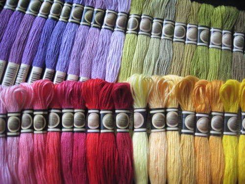 KCS Conjunto Completo de 447 Colores madejas de algodón de Hilo de ...
