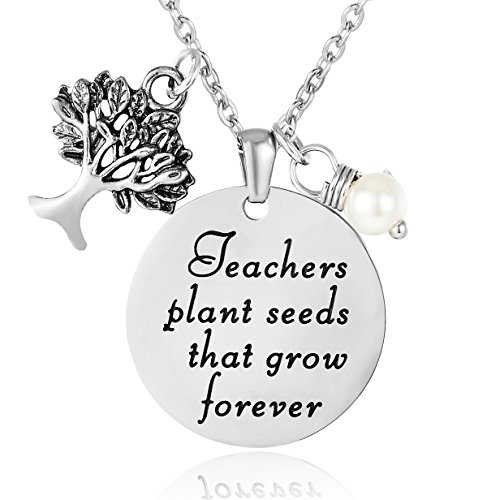 ELOI Teacher Appreciation Gifts Necklace Thank You Gift from Student Personalized Teacher Pendant Jewelry