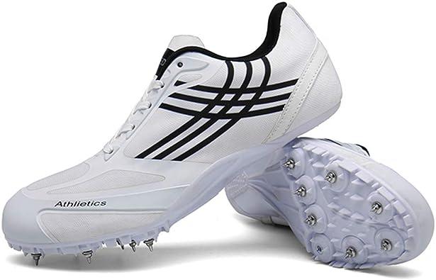 Mofeng Zapatillas de pista y campo, para hombre con pinchos profesionales de pista y campo, para entrenamiento de competición y entrenamiento de uñas, unisex: Amazon.es: Zapatos y complementos