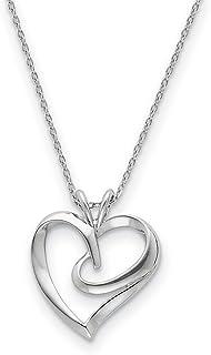 925sterling Silver la abbracciare cuore collana 18in