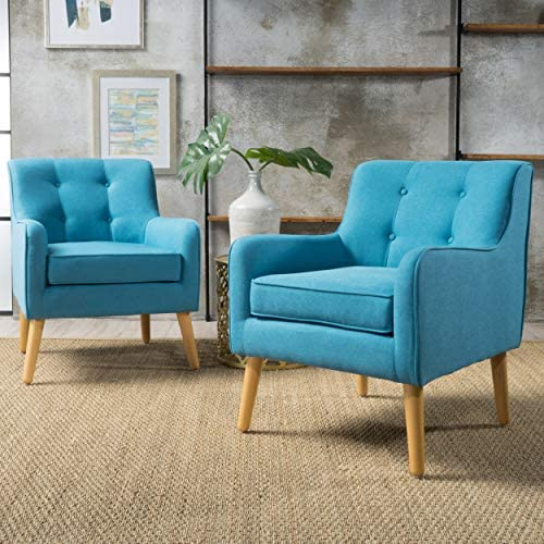 Christopher Knight Home Felicity Mid-Century Fabric Arm Chairs