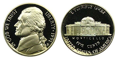 1991 S Proof Jefferson Nickel PF1