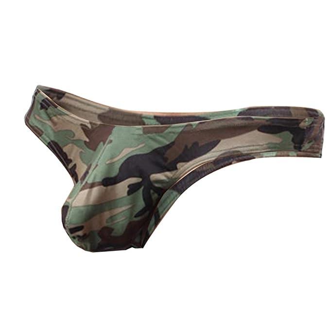 90798dce567d Baoblaze Calzoncillos de Camuflaje T-Back para Hombre Bikini de ...