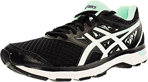 ASICS Women's Gel-Excite 4 Running Shoe (8 W US, Black/White/Mint) (Best Shoes For Treadmill Walking)
