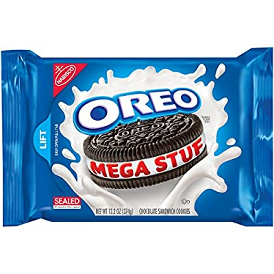 Oreo Mega Stuf Chocolate Sandwich Cookies (13.2-Ounce Package) by Oreo