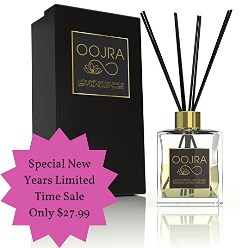 Oojra Laos White Tea and Ginger Essential Oil Reed Diffuser