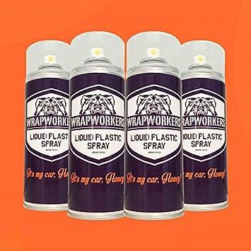 WrapWorkers Pintura para Llantas: 4 Spray Naranja Mate: Amazon.es: Coche y moto