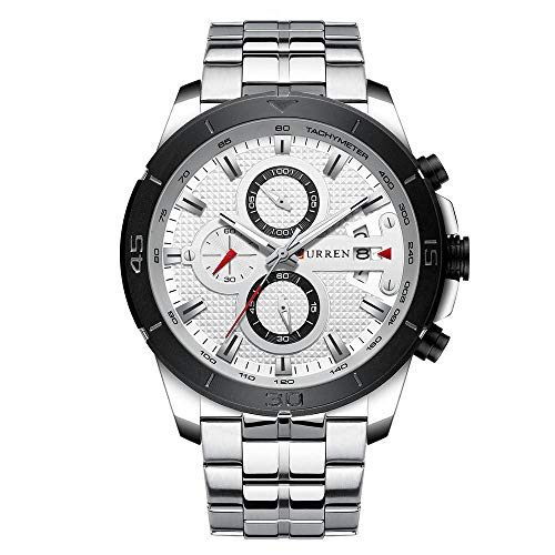 Quartz Watches for Men's CURREN Original Brand Calendar Multi-Function Style Waterproof Boys Steel Wrist Watch 8337