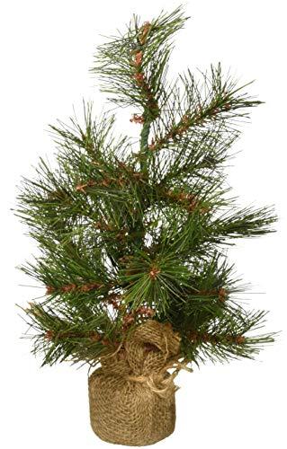 Mud Pie Faux-Pine Small Decorative Tree in Burlap Sack