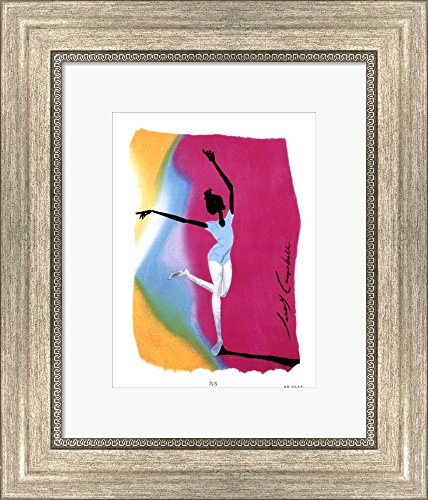 Isis by Leroy Campbell Framed Art Print Wall Picture, Silver Scoop Frame, 12 x 14 inches ()