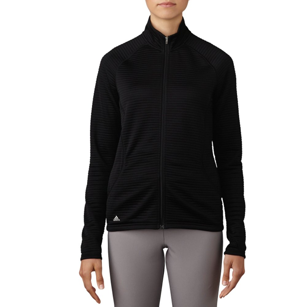 (XX-Large, Black) - adidas Golf Women's Essential Full Zip Textured Jacket   B01J233WNM