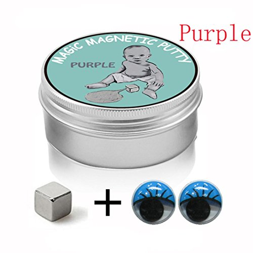 Price comparison product image Mchoice Super Magnetic Rubber Mud Strong Magnet Silly Therapy Stress Toys (Purple)