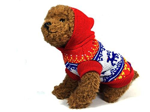 Nordic Reindeer Sweater (TheDogWear.com Red Nordic Reindeer Dog Sweater)