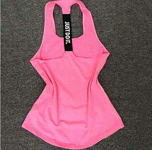 SGYHPL Frauen Yoga Top Gym Sport Weste Ärmellose Shirts Tanktops Sport Top Fitness Frauen Laufbekleidung Unterhemden M Pink