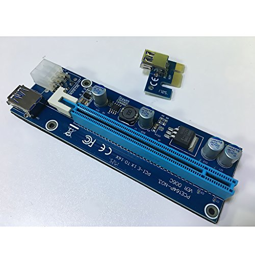 Homyl 1X to 16X PCI-Express Card Cable Power Riser for Bitcoin Mining Motherboard by Homyl (Image #7)